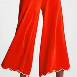 Zara wide leg orange pants small
